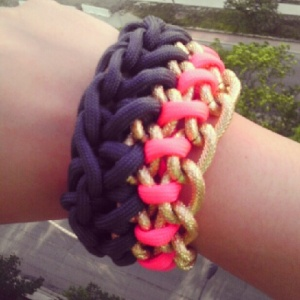 Crocheted Paracord Statement Bracelet