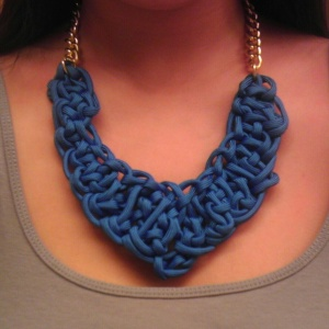 Crocheted Statement Necklace