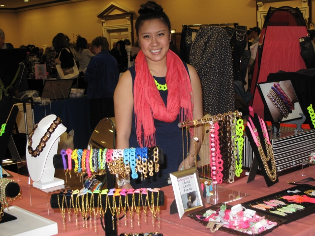 The SSD booth at the University of Illinois Mom's Weekend Craft Fair