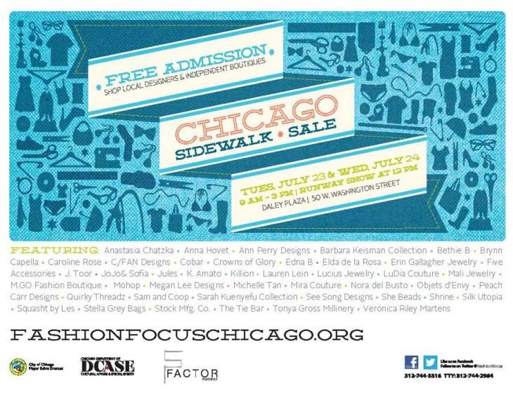 Chicago Sidewalk Sale Flyer