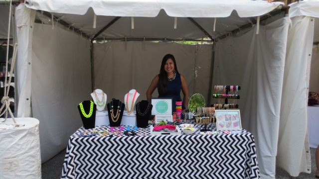 Liz and the See Song Designs booth at the 2013 Chicago Sidewalk Sale