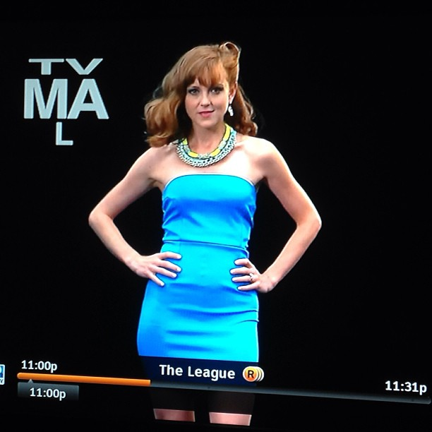 Another shot of Jayma wearing our necklaces!