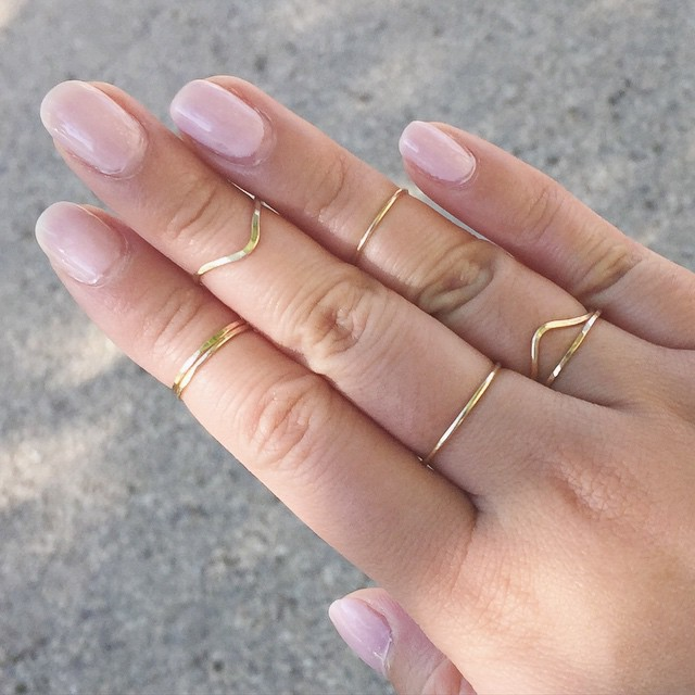 Simple Gold Rings - Only $12 each!