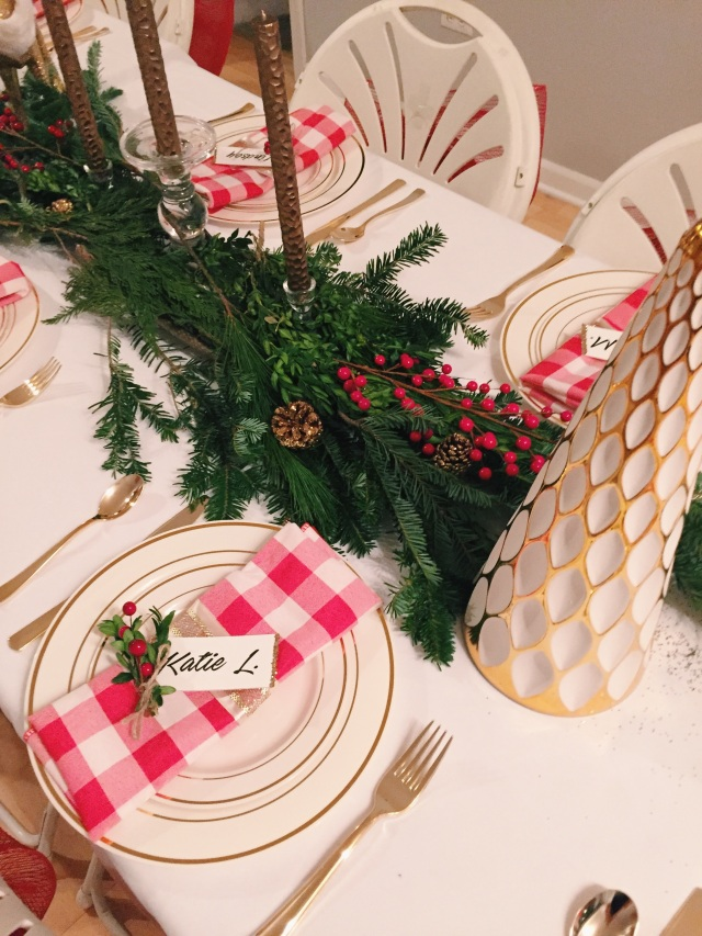 DIY Holiday Dinner Party Place Setting