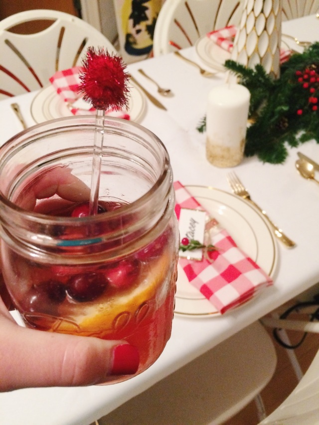 Our signature drink for the night - Holiday Mules