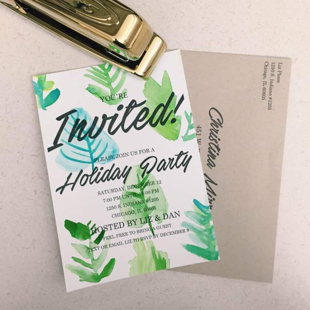 DIY Holiday Party Invitations